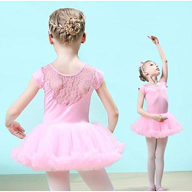 6f7d837eee Gyermek táncruhák / Balett Ruhák Lány Edzés Pamut / Csipke Csipke Rövid  ujjú Természetes Ruha