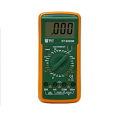 voordelige Test-, meet- & inspectieapparatuur-Beste 9205 m professionele lcd digitale multimeter voltmeter ohmmeter ampèremeter tester met buzzer tester meter vs dt830b rm101 dt9205