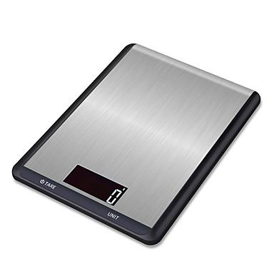 voordelige Test-, meet- & inspectieapparatuur-5 kg / 5g digitale keukenweegschaal rvs multifunctionele voedsel dieet keuken weegschaal elektronische balans koken gereedschap