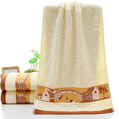 איכות מעולה מגבת רחצה, גיאומטרי כותנה טהורה 2 pcs