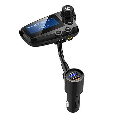 tanie Zestawy samochodowe Bluetooth/Bezdotykowy-zestaw głośnomówiący bluetooth 5.0 nadajnik FM fm radio nadajnik / mp3 / fm samochód