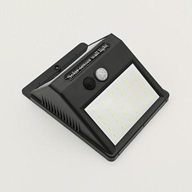 billige Utendørsbelysning-1pc 6 W Solar Wall Light Vanntett / Solar / Infrarød sensor Kjølig hvit 3.7 V Utendørsbelysning / Courtyard / Have 30 LED perler