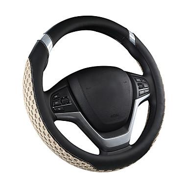 رخيصةأون اكسسوارات السيارات الداخلية-غطاء سيارة عجلة القيادة ألياف الكربون المألوف جميل الرجال والنساء أربعة مواسم جم سيارة / أسود / الأرجواني / أحمر / بيج / رمادي / يغطي عجلة القيادة