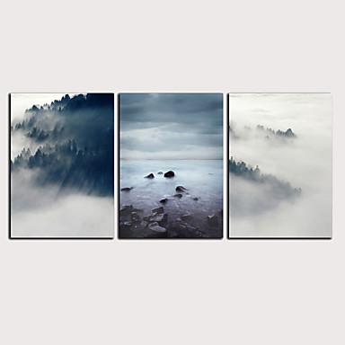 דפוס הדפסי בד מגולגל הדפסי בד מתוחים - מופשט L ו-scape קלסי מודרני שלושה פנלים הדפסים אמנותיים