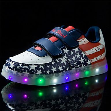 povoljno Summer Sales-Djevojčice PU Sneakers Udobne cipele Trčanje Plava / Pink Proljeće