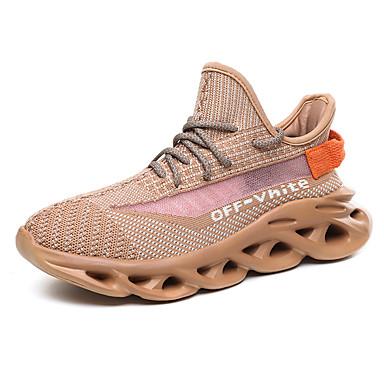 בגדי ריקוד גברים אור סוליות Tissage וולנט אביב קיץ / סתיו חורף ספורטיבי נעלי אתלטיקה ריצה נושם 3D אפור / קפה / ירוק בהיר