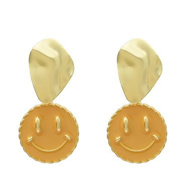 בגדי ריקוד נשים עגילי טיפה עגילים תכשיטים סגול / צהוב עבור חגים פֶסטִיבָל זוג 1