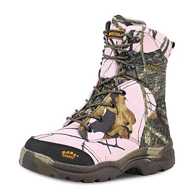 בגדי ריקוד גברים נעלי טיולי הרים נעלי טיולים עמיד למים עמיד נושם מוגן מגשם צעידה סתיו אביב ורוד + ירוק / נגד החלקה