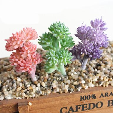פרחים מלאכותיים 1 ענף קלאסי ארופאי פסטורלי סגנון פרחים נצחיים צמחים עסיסיים פרחים לשולחן