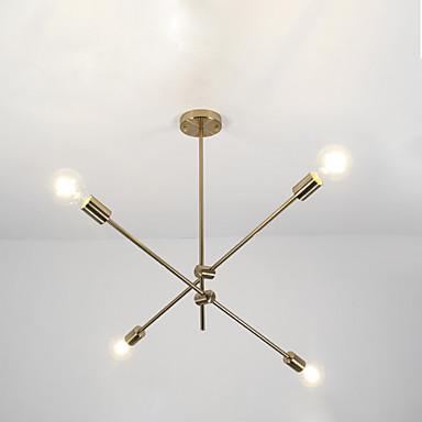 4-אור ספוטניק / גיאומטרי נברשות Ambient Light Electroplated מתכת מתכוונן 110-120V / 220-240V