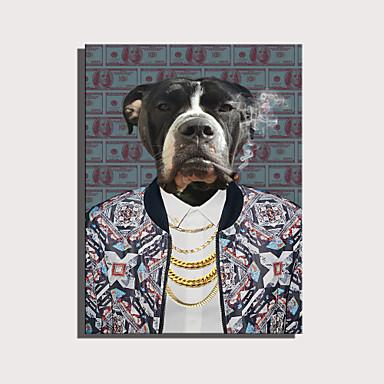 abordables Toiles-e-home toile tendue art série d'animaux mignons - chiens dominateurs décoration peinture un pcs