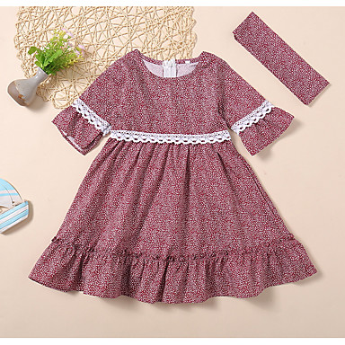 120dd1ddf cheap Baby Girls' Dresses-Baby Girls' Basic Solid Colored