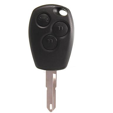 voordelige Auto-interieur accessoires-Sleutelbehuizing met 3 knoppen ongesneden mes voor Renault Clio Megan modus