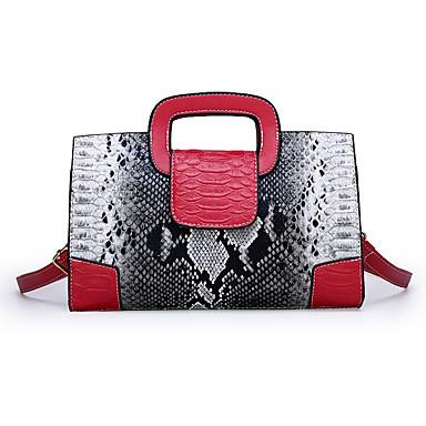 preiswerte Taschen-Damen Tasche mit oberem Griff Wasserdicht Kunstleder Schlangenhaut Schwarz / Rote / Khaki