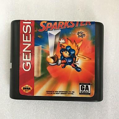 סגה genesis משחק מחסנית עם konami sparkster המשחק