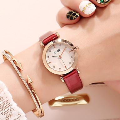 baratos Relógios Senhora-Mulheres relógio mecânico Quartzo Impermeável Analógico Fashion - Prata Amarelo Vermelho / Aço Inoxidável