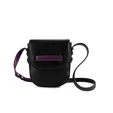 abordables Sacs-Femme Fermeture PU / Coton Sac à Bandoulière Couleur unie Noir / Violet / Vert