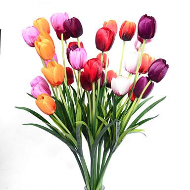 פרחים מלאכותיים 1 ענף קלאסי ארופאי סגנון מינימליסטי צבעונים פרחים נצחיים פרחים לשולחן
