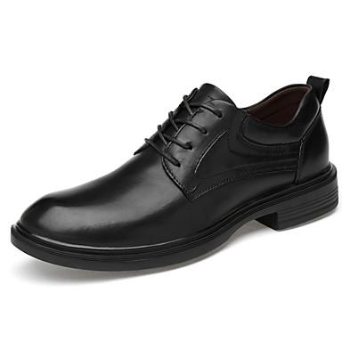 בגדי ריקוד גברים נעליים פורמליות עור אביב קיץ / סתיו חורף עסקים / יום יומי נעלי אוקספורד ללא החלקה שחור / מסיבה וערב
