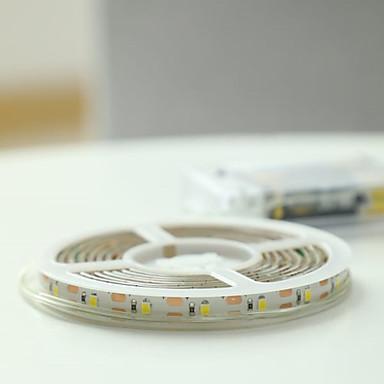 billige LED Strip Lamper-3M Lyssett 180 LED 2835 SMD Varm hvit Søtt / Kuttbar / Dekorativ AA batterier drevet 1set