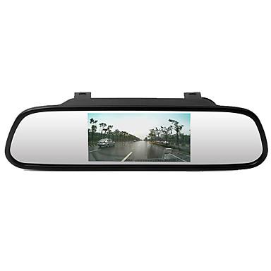 billige Bil-DVR-btutz LCD 480p Nytt Design Bil DVR 170 grader Bred vinkel CCD 4.3 tommers LCD Dash Cam med ADAS Nei Bilopptaker