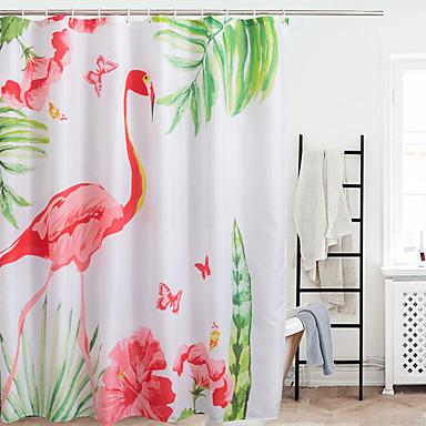 וילונות מקלחת מודרני פּוֹלִיאֶסטֶר עשוי במכונה עמיד במים חדר אמבטיה