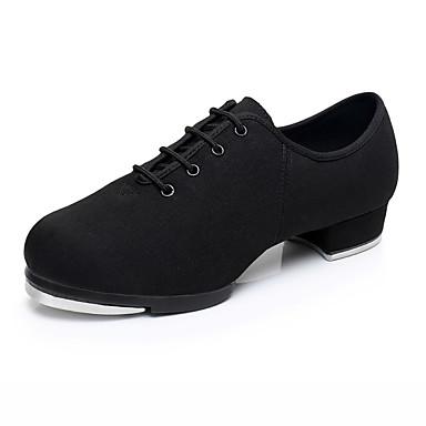 povoljno Novo u ponudi-Žene Platno Cipele za step Štikle Debela peta Moguće personalizirati Crn