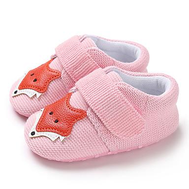 baratos Sapatos de Criança-Para Meninos / Para Meninas Tricô Tênis Crianças (0-9m) / Criança (9m-4ys) Primeiros Passos Cinzento / Rosa claro / Castanho Claro Primavera / Outono