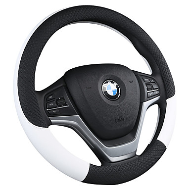 voordelige Auto-interieur accessoires-auto stuurwielen kunstleer / leer 38cm zwart / wit / paars / oranje voor universeel