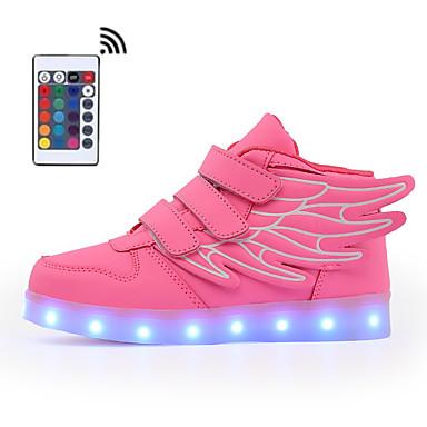 povoljno Summer Sales-Dječaci / Djevojčice Eko koža Sneakers Svjetleće tenisice Hodanje LED Plava / Pink / Burgundac Ljeto / Jesen / Color block / Guma