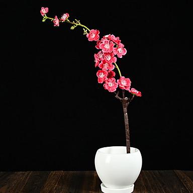 פרחים מלאכותיים 1 ענף קלאסי ארכאי אגרטל פרחים לשולחן