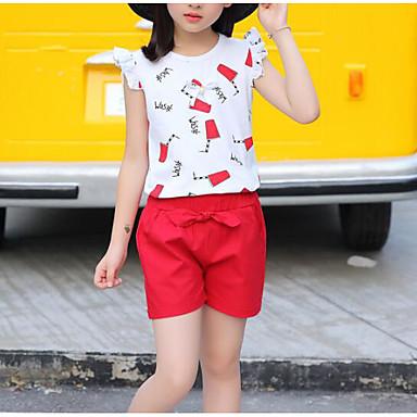 c1a3b9ad7 مجموعة ملابس بدون كم ورد / فاكهة للفتيات أطفال