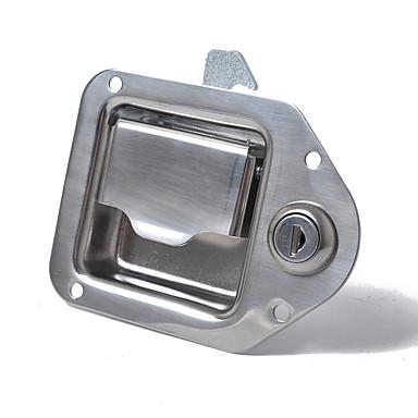 tanie Alarmy samochodowe-zatrzask drzwi ze stali nierdzewnej zatrzask 110x83mm uchwyt ciężarówki skrzynka narzędziowa z kluczem