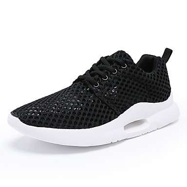 cheap Featured Deals-Men's Comfort Shoes Mesh Spring & Summer / Fall & Winter Sporty / Casual Athletic Shoes Running Shoes / Walking Shoes Breathable White / Black / Gray