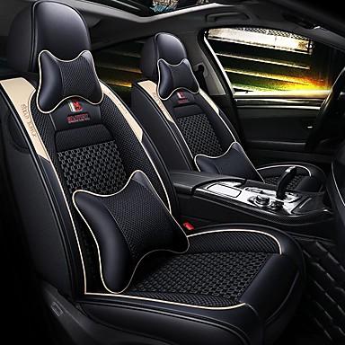 voordelige Auto-interieur accessoires-5 zetels cartoon autostoelhoes met twee kussens en twee heupkussens / pu leer ijszijde materiaal / airbag compatibiliteit / verstelbaar en afneembaar / vier seizoenen universeel