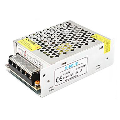 1pc אור רצועה אור מחרוזת וידאו ניטור מיתוג אספקת חשמל קלט ac85-265v פלט 12v 60w