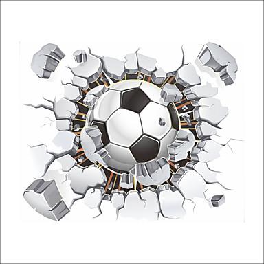 מדבקות קיר דקורטיביות - מדבקות קיר מטוס כדורגל פנימי / חדר ילדים