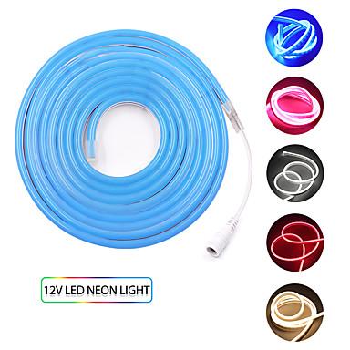 billige LED Strip Lamper-KWB 5 m Fleksible LED-lysstriper 600 LED SMD3528 Varm hvit / Hvit / Rød Vanntett / Kreativ / Kuttbar 12 V 1set