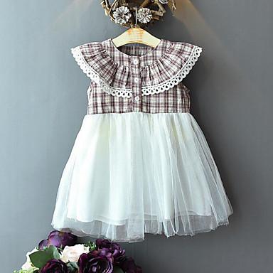 3d354b569 cheap Girls' Dresses-Kids Girls' Sweet Street chic Plaid