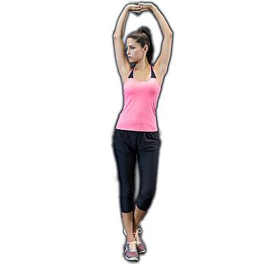 בגדי ריקוד נשים יוגה למעלה ספורט צבע אחיד אלסטיין צמרות יוגה ריצה כושר וספורט לבוש אקטיבי נושם ייבוש מהיר תומך זיעה גמישות גבוהה / פס