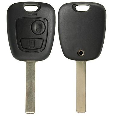 voordelige Auto-interieur accessoires-twee knoppen afstandsbediening volledige reparatieset sleutelhanger case voor Toyota Aygo