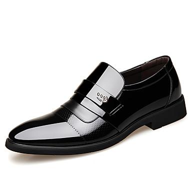 בגדי ריקוד גברים נעליים פורמליות עור אביב / סתיו בריטי נעליים ללא שרוכים ללבוש הוכחה שחור / חום / משרד קריירה