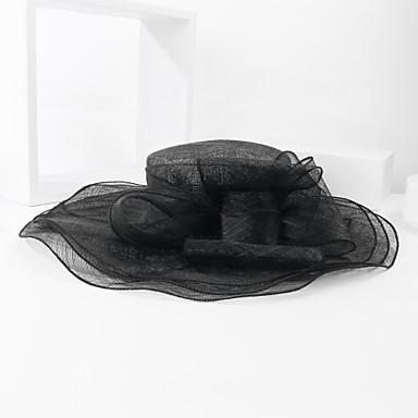 billige Hodeplagg til fest-Linfrø Kentucky Derby Hat / Hatter med Blomst 1pc Bryllup / Spesiell Leilighet Hodeplagg