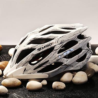 abordables Casques de Cyclisme-MOON Adulte Casque de vélo 27 Aération CE Résistant aux impacts Intégralement moulé Ventilation EPS PC Des sports Vélo tout terrain / VTT Cyclisme sur Route Cyclisme / Vélo - Noir / Blanc Bleu