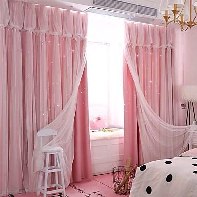 עכשווי פרטיות שני פנאלים וילון & Sheer חדר שינה   Curtains