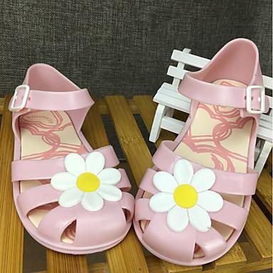 hesapli Kız Çocuk Ayakkabıları-Genç Kız PVC Sandaletler Bebek (9 milyon 4ys) Rahat Drak Red / Badem / Açık Pembe Yaz