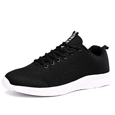 Erkek Ayakkabı Örümcek Ağı Sonbahar / İlkbahar yaz Sportif / Günlük Atletik Ayakkabılar Koşu Günlük / Dış mekan için Siyah / Beyaz / Gri