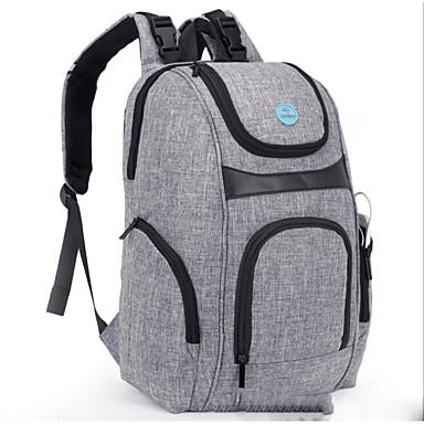 Недорогие Функциональные сумки-Молнии Сумка для мамы Нейлон Повседневные Черный / Серый