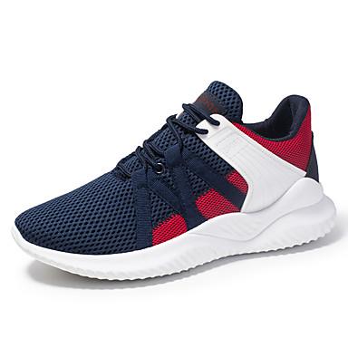 Erkek Ayakkabı Elastik Kumaş Sonbahar Kış Sportif Atletik Ayakkabılar Günlük için Siyah / Koyu Mavi