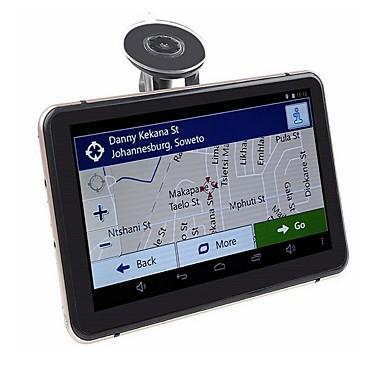 voordelige Automatisch Electronica-7 inch Android GPS navigatie auto DVR wifi AV-in Bluetooth FM-zender bundel gratis nieuwste kaarten